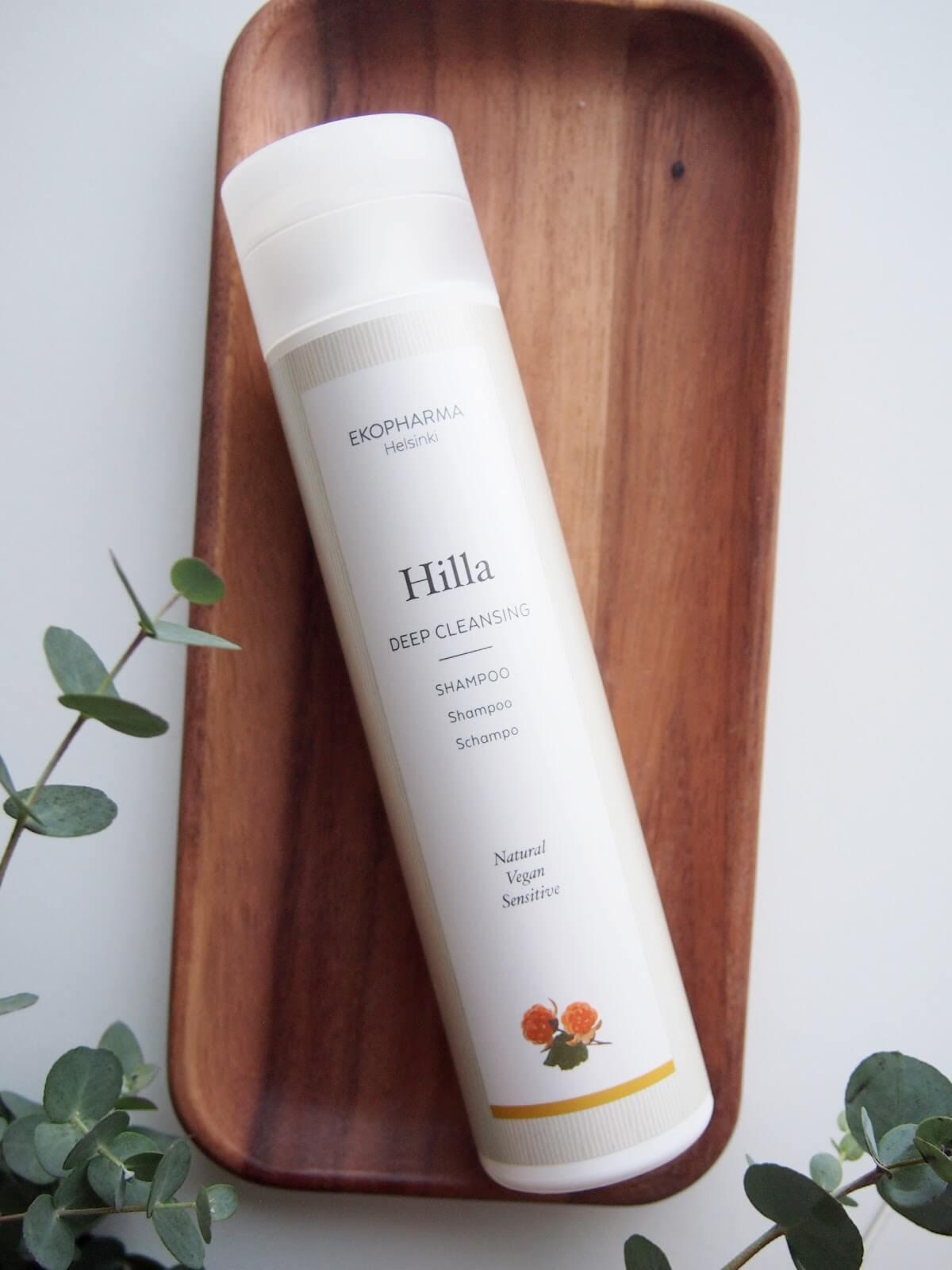 luonnollinen syvapuhdistava shampoo