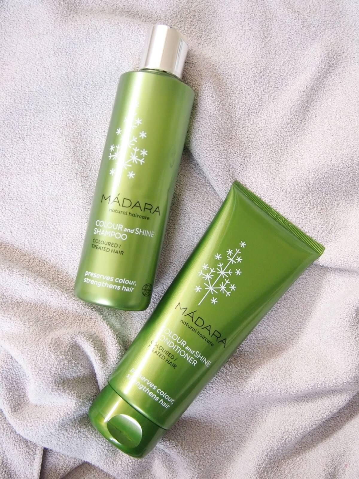 madara värjättyjen hiusten shampoo
